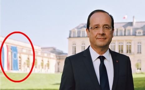 François Hollande et le drapeau hollandais...