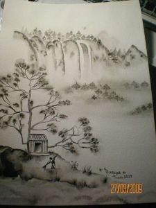 estampe chinoise maison