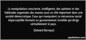 Citation d'Edward Bernays