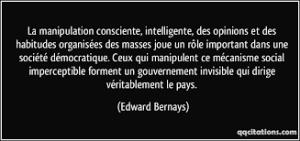 manipulation edward bernays