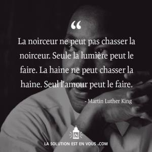 Martin luther king noirceur lumiére