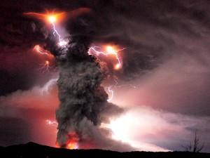 volcan foudre chili